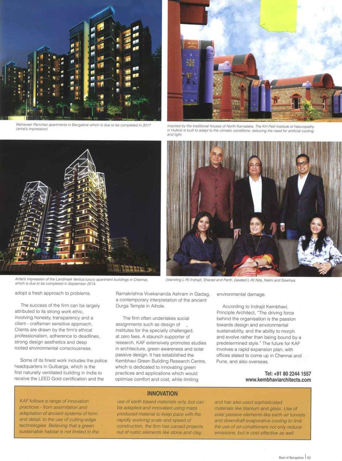 Best Of Bangalore | Kembhavi Architects Bangalore | Hubli