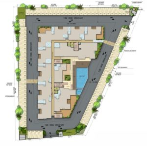 KAF Architects Bangalore 01.SITE PLAN-LEMON GRAZ