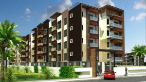 KAF Architects Bangalore North sideElevation LandScaped