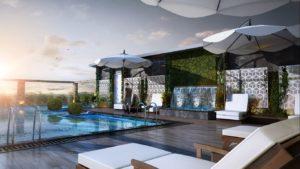 KAF Architects Bangalore pool view_