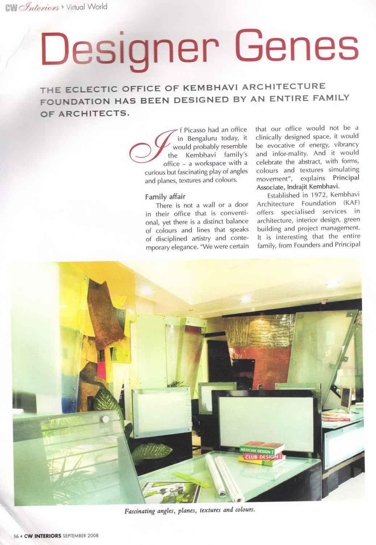 KAF Architects Bangalore Designer Genes CW Interiors