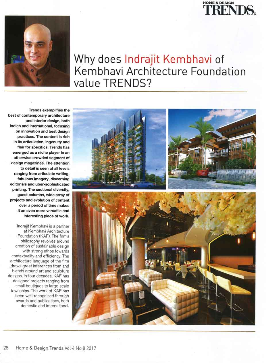 Home And Design-Trends | Kembhavi Architects Bangalore | Hubli