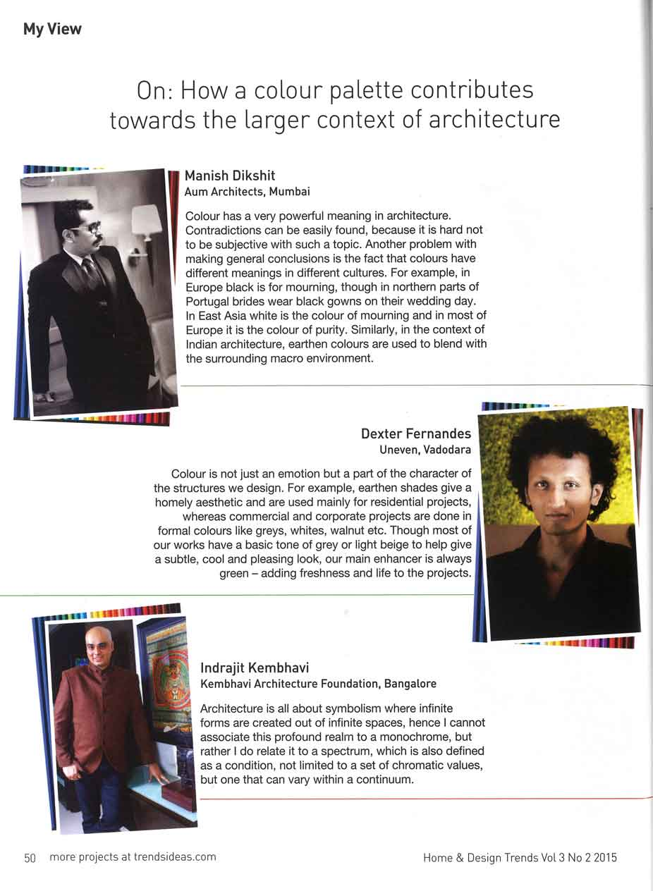 Home And Design The Trends | Kembhavi Architects Bangalore | Hubli