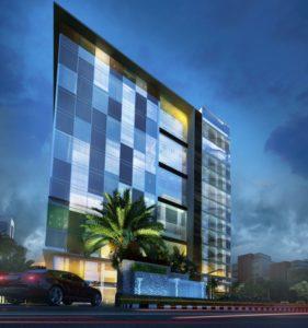KAF Architects Bangalore night view 1