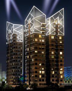 KAF Architects Bangalore night_elevation_02