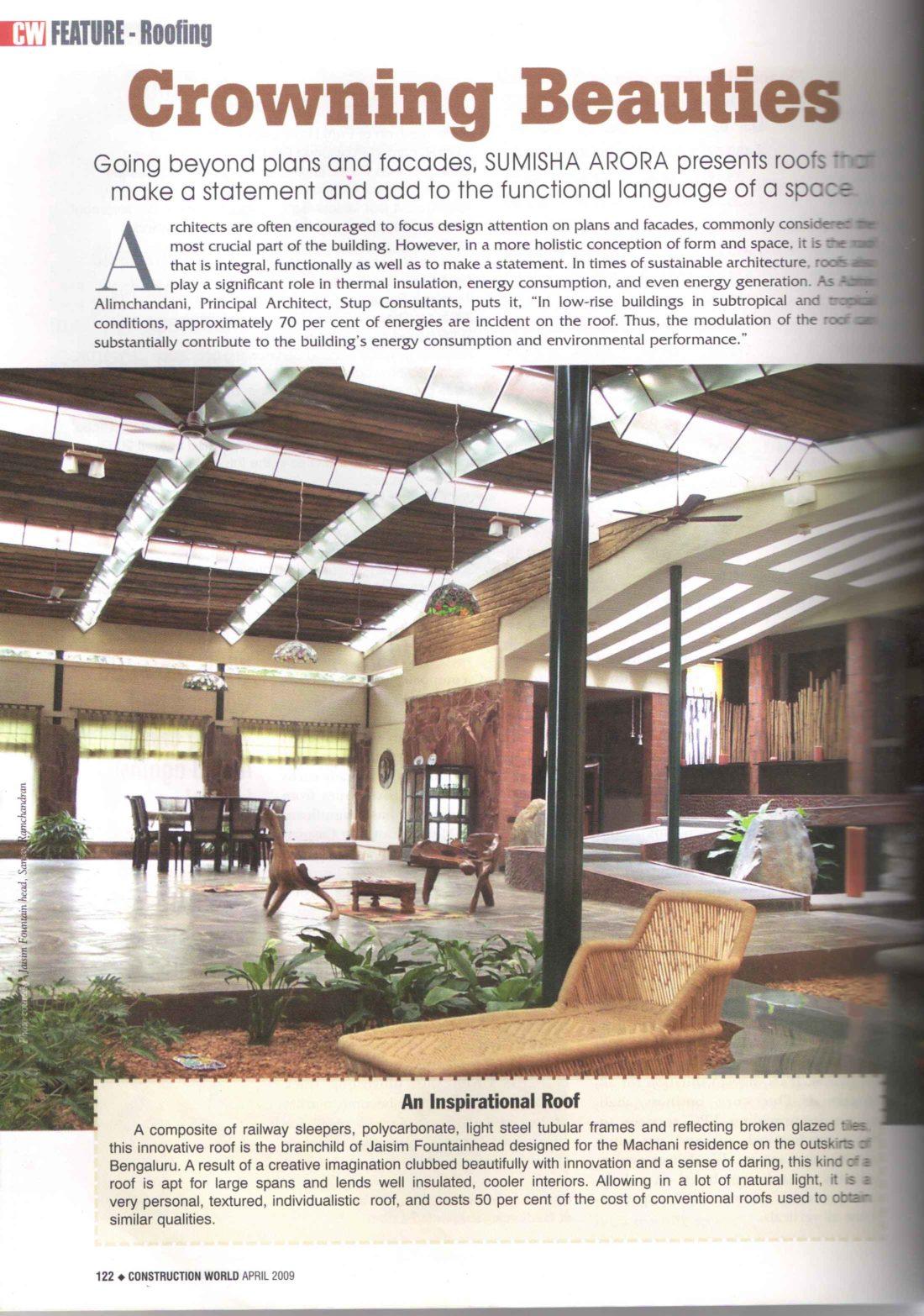 KAF Architects Bangalore Construction World - Crowning Beautie